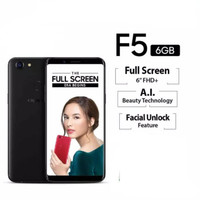 HP OPPO F5 6/64 GB SECOND GARANSI RESMI