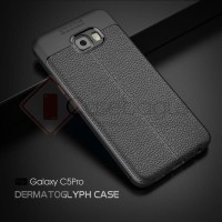 Samsung Galaxy C5 Pro - Stitches Leather Armor Soft Case