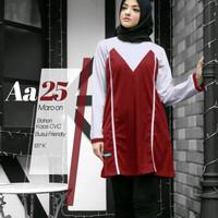 Atasan Alnita AA 25 maroon