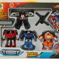 tobot robot kombinasi tritan dan helikopter isi 4 / mainan anak tobot