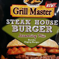 Jual Grill Master | steak house burger | bumbu daging burger | 20 gram | Murah