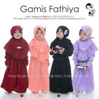 Fathiya gamis set jilbab baju muslim anak perempuan 2 3 tahun original