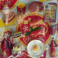 Mainan Kitchen Set Edisi Makanan Cepat Saji