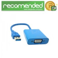 Adapter Display USB 3.0 ke VGA - Biru