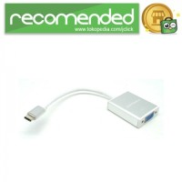 USB 3.1 Type C Male to VGA Female Adapter Converter - Silver