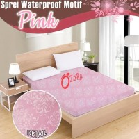 Dijual Sale Sprei Waterproof Motif Ulir Bunga Adi Tanpa Sambungan