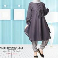 Jual Nesya Top / Hijab Tunik / Fashion Hijab Ootd / Grosir Baju Muslim