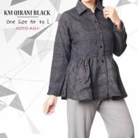Jual Km Qirani Black / Baju Tunik / Grosir Baju Tunik / Hijab Tunik