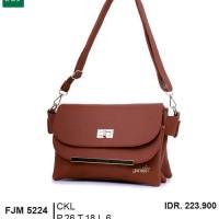 Tas Handbag Kasual  Wanita  coklat Garsel FJM 5224 ori original murah