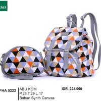 Tas Ransel / Backpack Kasual Wanita  abu Garsel FHA 5222 ori murah