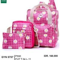 Tas Ransel / Backpack Wanita  pink Garsel GYN 5757 ori original murah