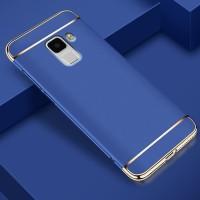 Hardcase Bumper Chrome 3in1 Cover Case Casing HP Samsung A8 Plus 2018