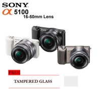 Sony Alpha A5100 Kit 16-50mm, Mirrorless Free Tampered Glass