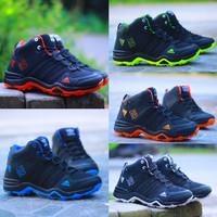 Jual sepatu pria boots jogging running lari sport sneakers running hitam Murah