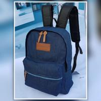 tas ransel jeans hitam/tas sekolah jansport pria wanita Murah