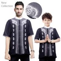 Best Baju Koko Alexi Bapak dan Anak Kemeja Muslim Pria