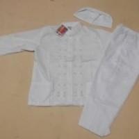 Baju Muslim Anak Baju Muslim |Baju Koko Anak Laki laki Warna Putih