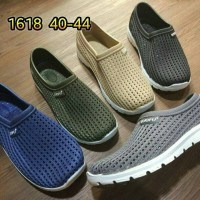 DISKON jelly shoes kets pria sepatu slip on luofu casual impor Limited