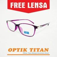 Harga frame kacamata minus baca pria wanita premium cbf 9136 ungu | Pembandingharga.com