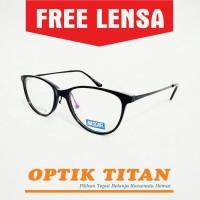 Harga frame kacamata minus baca cat eye wanita nascar 7007 hitam | Pembandingharga.com