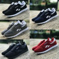 Reebok Classic size 39 - 43 sepatu pria sneakers sekolah hitam navy