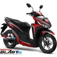 Decal stiker Vario 125/150 Esp BLACK SPLASH RED FULLBODY