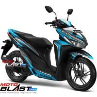 Decal stiker Vario 125/150 Esp BLACK SPLASH BLUE V1 FULLBODY