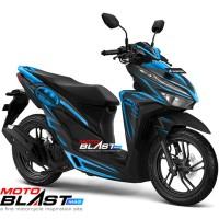 Decal stiker Vario 125/150 Esp BLACK BATMAN SPLASH BLUE FULLBODY