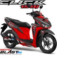 Decal stiker Vario 125/150 BLACK SPLASH RED FULLBODY