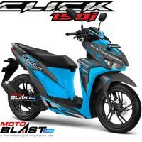 Decal stiker Vario 125/150 Esp BLACK CLICK Version BLUE FULLBODY