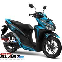 Decal stiker Vario 125/150 Esp BLACK SPLASH BLUE FULLBODY