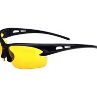 night view sport/kacamata malam anti silau/kuning/