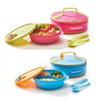 New Fancy Crystalwave Lunch Set CWL Tupperware Pink