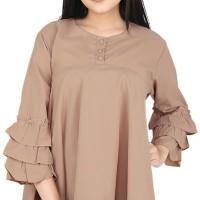 Baju Atasan WANITA IJRDD 063   warna KREM   KATUN   Size M-L-XL  