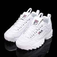 [ORI] KOREA FILA - DISRUPTOR 2 - WHITE UNISEX SNEAKERS RUNNING SHOES