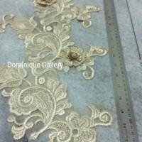 Dijual Aplikais Brokat / Aplikasi Gaun Dress / Perlengkapan Jahit Gaun