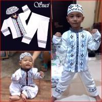 Jual Baju Koko Anak PUTIH Pakaian Muslim Anak Suci MARUNO Murah