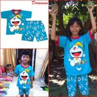 Baju Setelan Lucu DORAEMON Anak Bayi Laki Perempuan Cowok Cewek MARUNO