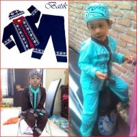 Jual Koko Anak BATIK Muslim Baju Setelan Pakaian Gamis Anak Berkelas MARUNO Murah