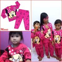 Piyama Anak Perempuan MINNIE MOUSE Setelan Baju Tidur Lucu Cute MARUNO