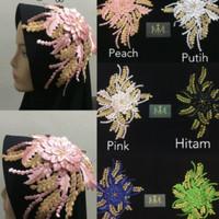 Renda Bordir Hiasan Hijab 2 tone