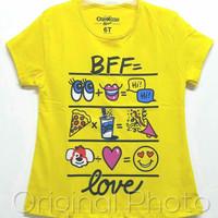 Baju kaos karakter anak perempuan oshkosh kuning 1-6
