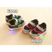 Sepatu led anak sepatu sekolah olahraga sneakers kets anak