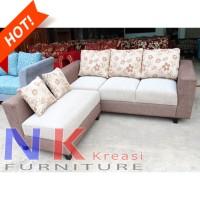 Sofa Kursi Tamu L Minimalis (04), sofa sudut kantor mewah