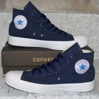 Sepatu Converse Allstar Chuck Taylor Grade Original Warna Biru Navy