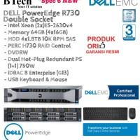 "DELL Server R730 2U""Spec6 NEW""(2x)E5-2630v4/64GB/4x1.8TB/SAS/3YR"