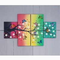 hiasan dinding pajangan lukisan motif kupu-kupu