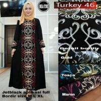 Exclusive abaya gamis arab turkey 46 incl pasmina hitam