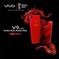 HP VIVO V9 NEW VELVET RED RAM 4 / 64 GB(LIMITED EDITION) GARANSI RESMI