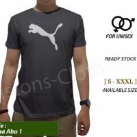 best seller Kaos distro Puma logo Abu tshirt branded pria baju sport